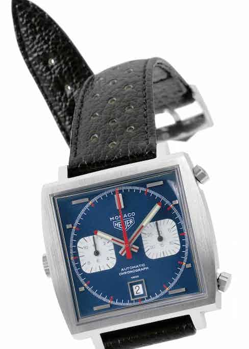 The Heuer Monaco from 1969 was the very first waterproof, automatic chronograph in a square case