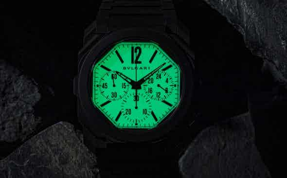 """Introducing the Bvlgari Octo Finissimo Chronograph GMT in Black Ceramic: The """"Nuclear Option'' for Revolution & The Rake"""
