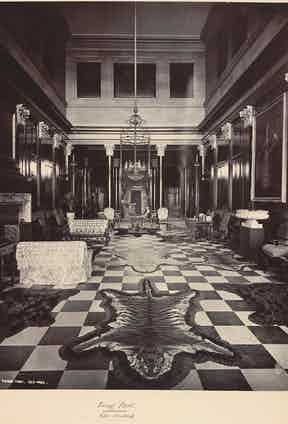 The grand setting of his home in Tring