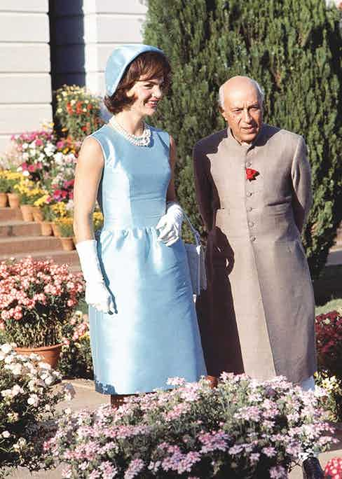 At Nehru's official residence with Jackie Kennedy in 1962 (Photo by Art Rickerby/The LIFE Picture Collection via Getty Images)