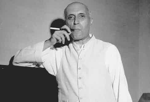 Jawaharlal Nehru at his son's home in May 1946 (Photo by Margaret Bourke-White/The LIFE Picture Collection via Getty Images)