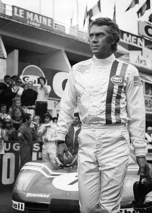 Steve McQueen in a scene from the movie 'Le Mans in 1971 in Le Mans, France. (Photo by Michael Ochs Archives/Getty Images)