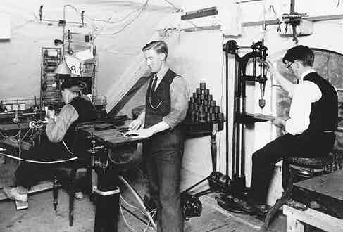 One of the first radio toolshops at Quistrup farm in Denmark