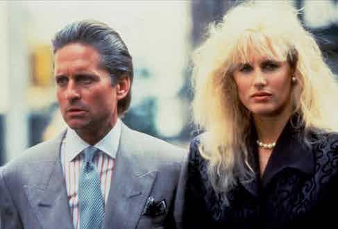 Michael Douglas and Daryl Hannah, Wall Street, 1987