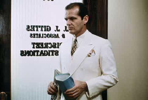 Jack Nicholson in Chinatown, 1974