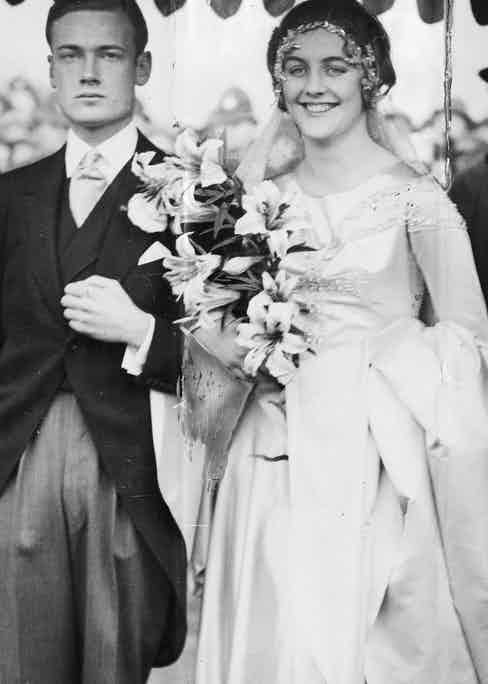 Bryan Guinness 2nd Baron Moyne is seen here on his wedding day to Diana Mitford. They divorced in 1933 and she married Sir Oswald Mosley (Photo by ANL/REX Shutterstock (1189664a)