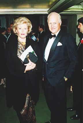 Former U.S. ambassador to France Pamela Harriman at a gala in 1993 (Photo by Paul Greaves/REX/Shutterstock (220912e)