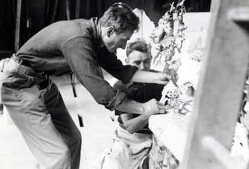 Balthus at work, circa 1950 (Photo by Sipa Press/REX/Shutterstock (332858c)
