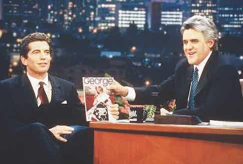 Promoting the magazine on Jay Leno, 1998 (Photo by: Chris Haston/NBCU Photo Bank)