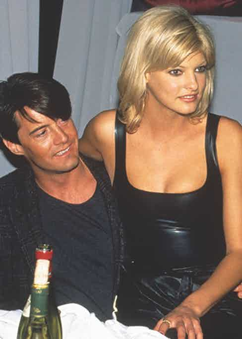 Kyle MacLachlan and Linda Evangelista at the Venus of Fashion American Awards Gala at the Tunnel Club (Photo by Steve Eichner/Getty Images)